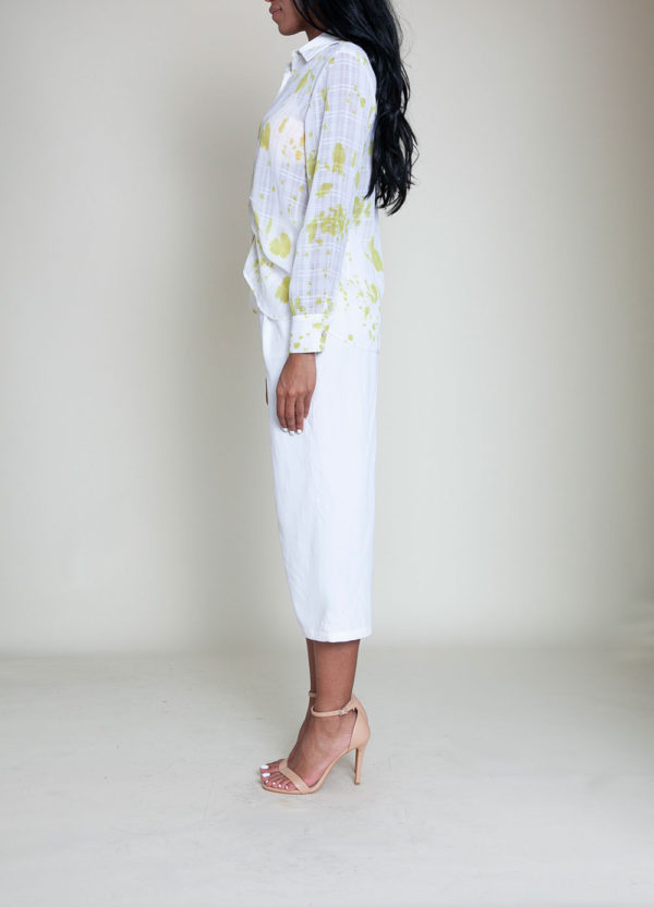 yellow printed blouse- side