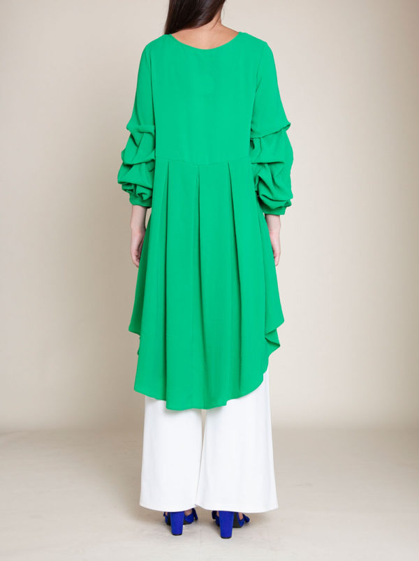 GREEN HIGH LOW TOP- BACK