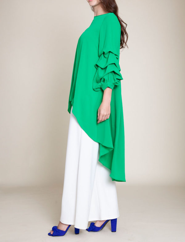 GREEN HIGH LOW TOP- SIDE