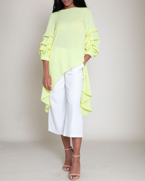 YELLOW HIGH LOW TOP- FRONT