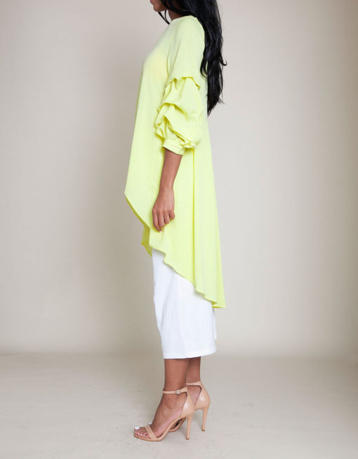 YELLOW HIGH LOW TOP- SIDE