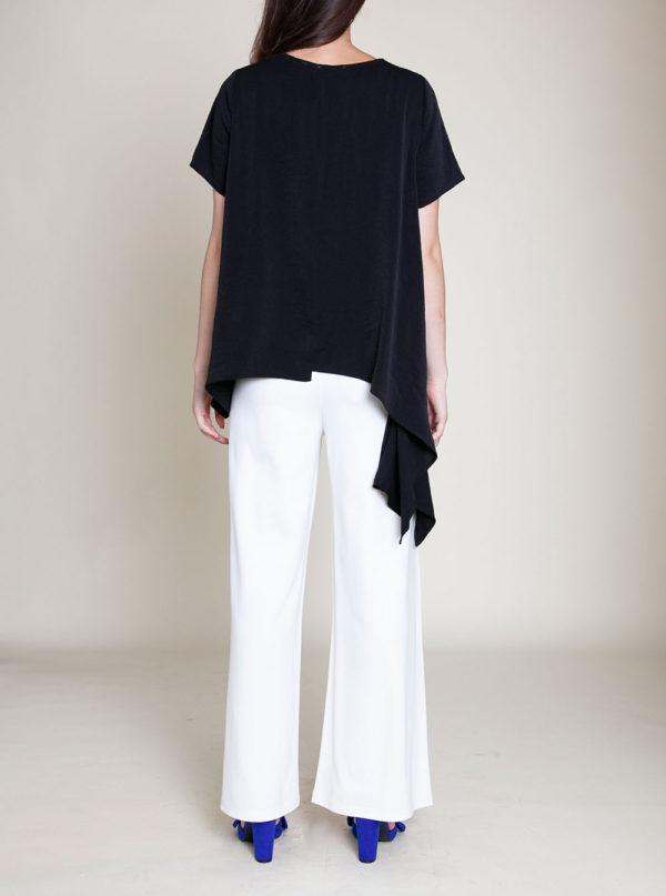 asymmetrical black top- back