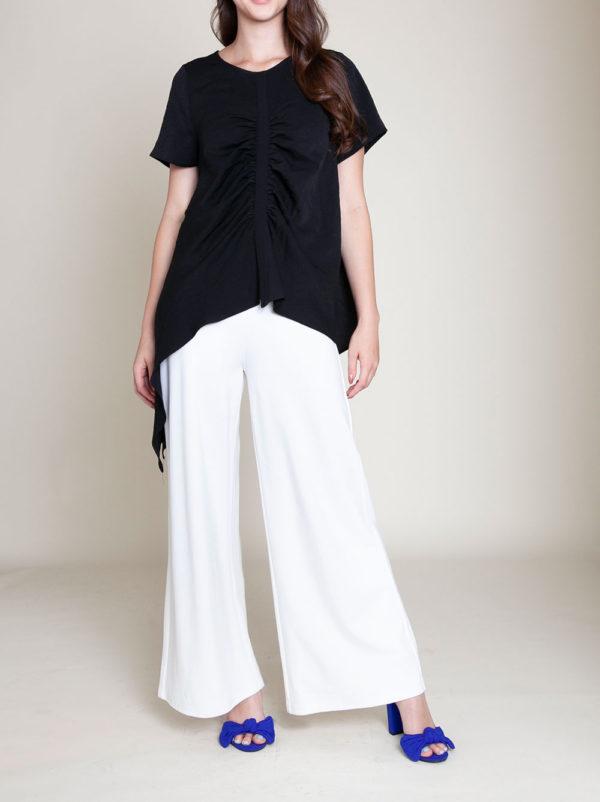 asymmetrical black top- front