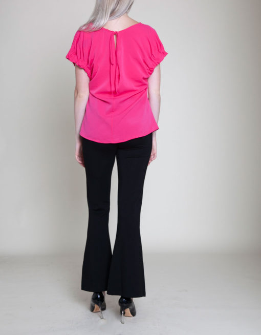 FUCHSIA SHORT SLEEVE TOP- BACK