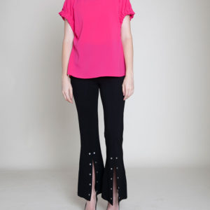 FUCHSIA SHORT SLEEVE TOP- FRONT