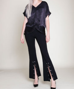 KNOT FRONT BLACK TOP- FRONT