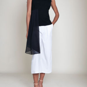 ASYMMETRIC CHIFFON SIDE TOP- FRONT