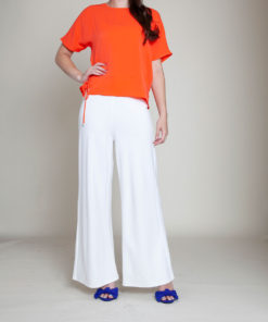 side tie coral top- front