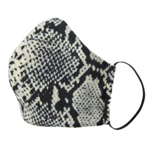 black snake print face mask