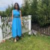 blue balloon dress- front