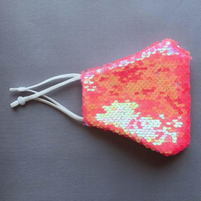 pink sequins fashion face mask