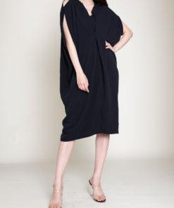 OVERSIZED SMOCK DRESS- FRONT