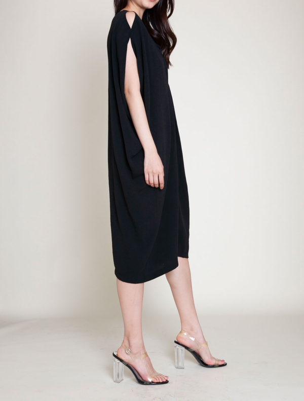 OVERSIZED SMOCK DRESS- SIDE