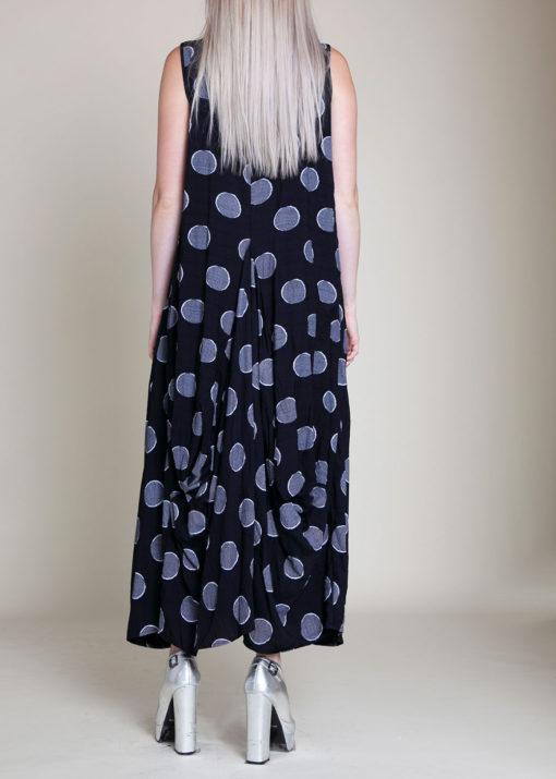 PRINTED BALLOON MAXI DRESS- BACK