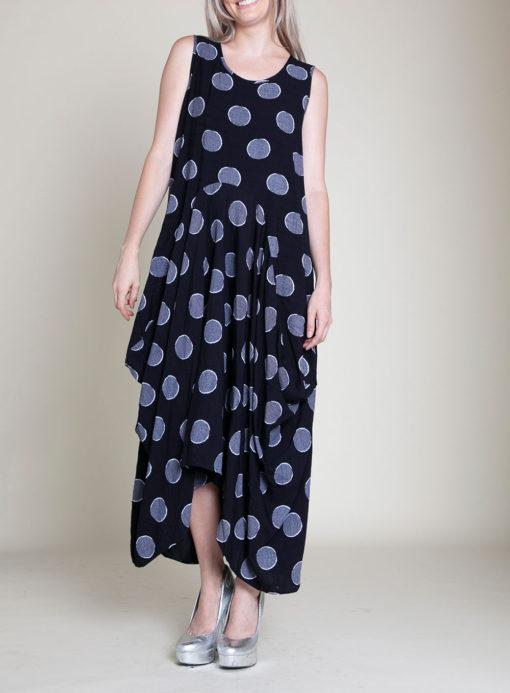 PRINTED BALLOON MAXI DRESS- FRONT