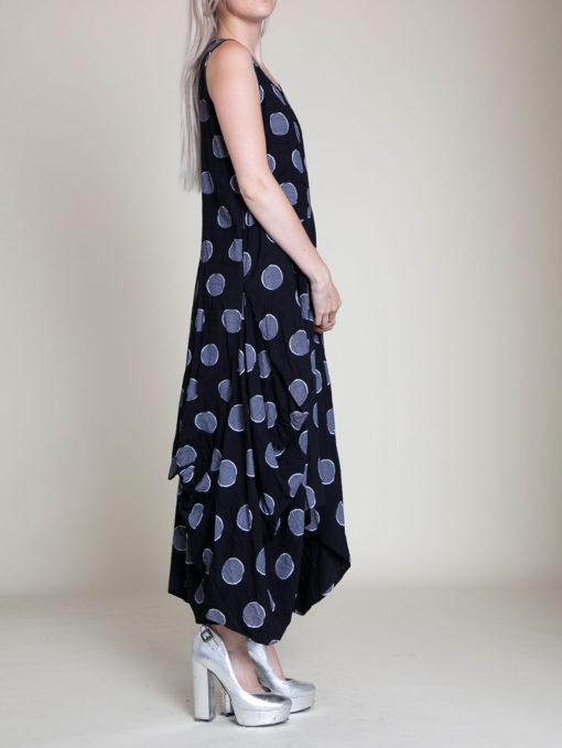 PRINTED BALLOON MAXI DRESS- SIDE