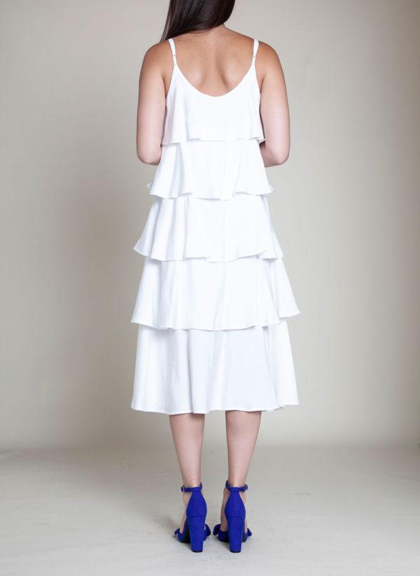 LAYERED WHITE DRESS- BACK