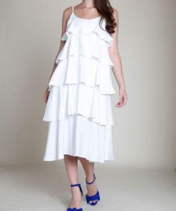 LAYERED WHITE DRESS- FRONT