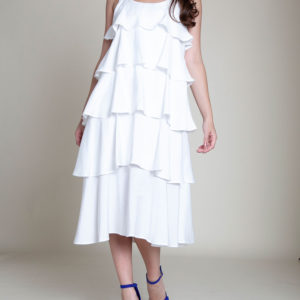 LAYERED WHITE DRESS- FRONT