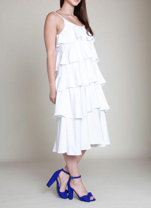LAYERED WHITE DRESS- SIDE