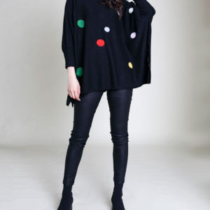 BLACK DOT SWEATER- FRONT
