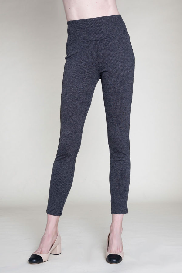 HIGH WAISTED GREY JEGGINGS- FRONT