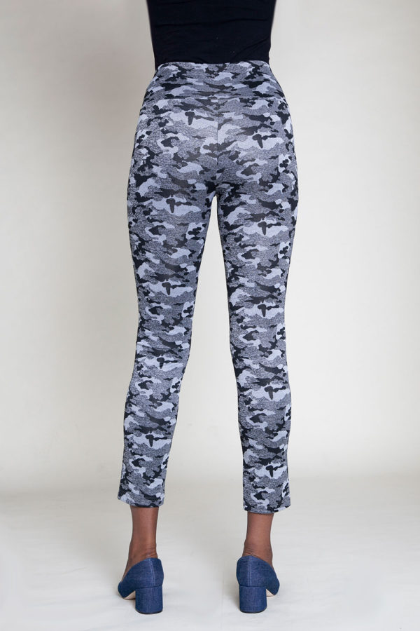 camouflage printed jeggings- back