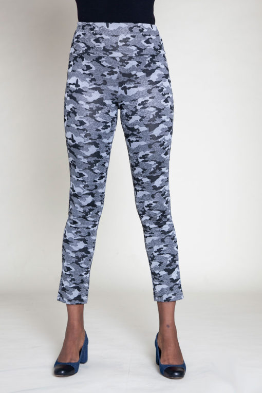 camouflage printed jeggings- front