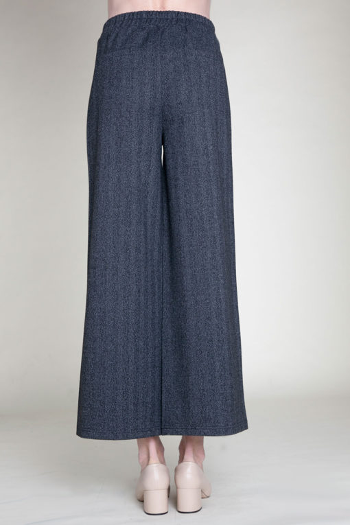 SIDE ZIP CHARCOAL CULOTTE PANTS- BACK