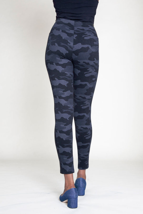 CHARCOAL CAMOUFLAGE PRINTED JEGGINGS- BACK