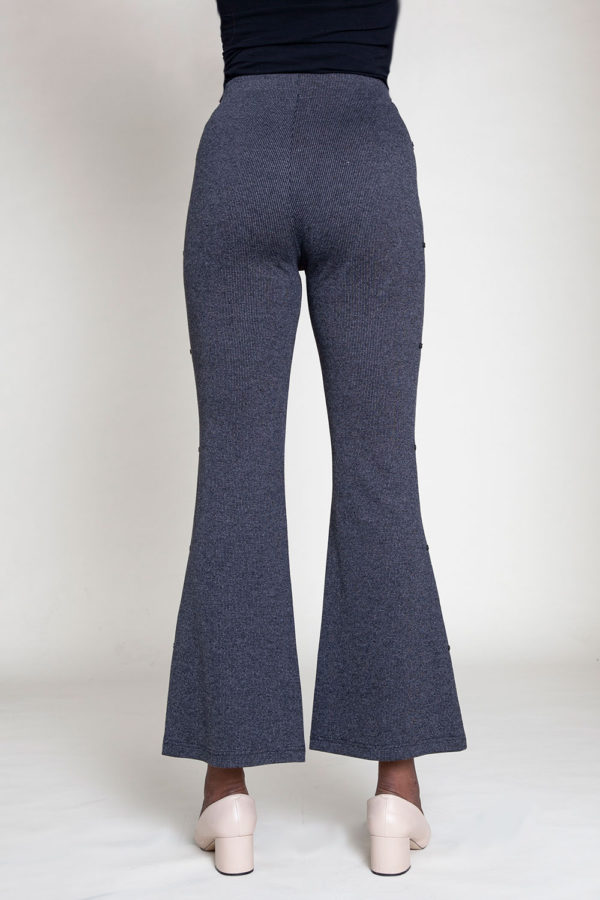 FULL LENGTH GREY FLARE PANTS- BACK