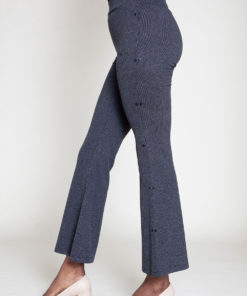 FULL LENGTH GREY FLARE PANTS- SIDE
