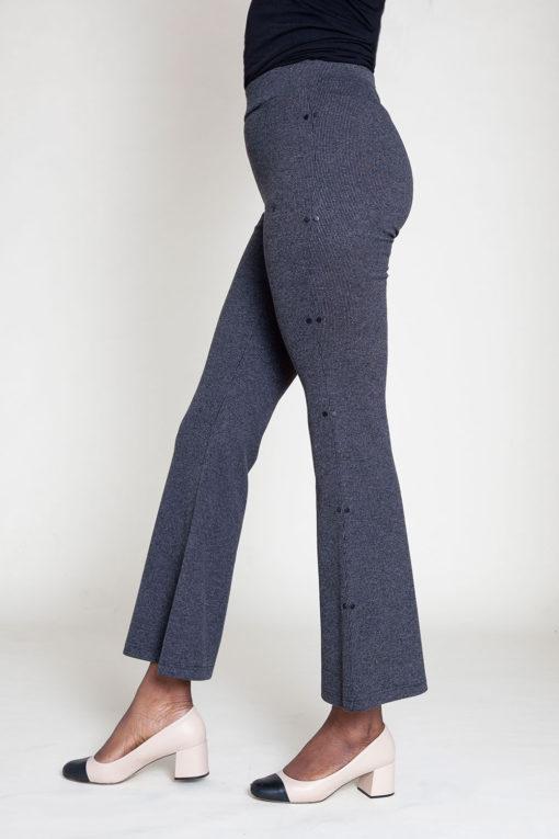 FULL LENGTH GREY FLARE PANTS- SIDE