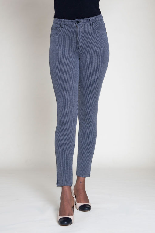 CORDUROY GREY JEGGINGS- FRONT