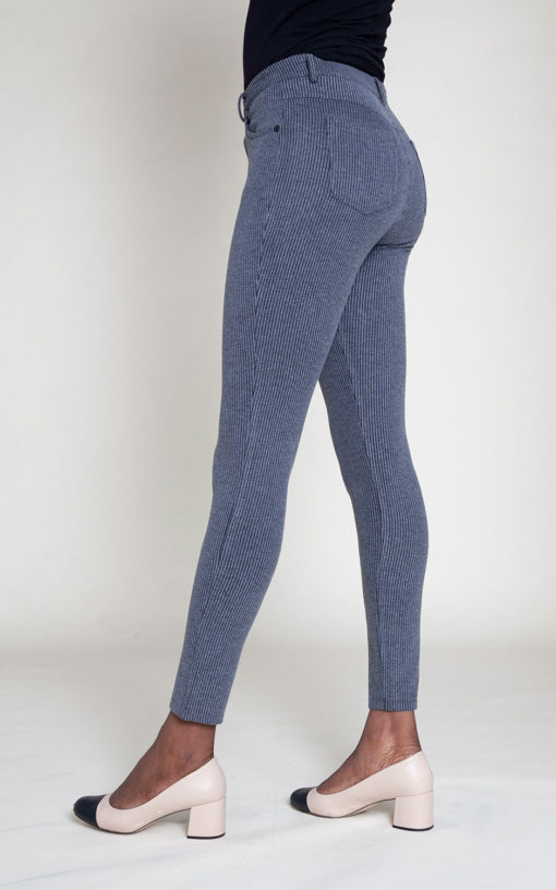 CORDUROY GREY JEGGINGS- SIDE