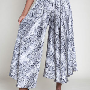 ANIMAL PRINTED WIDE LEG PANTS- FRONT
