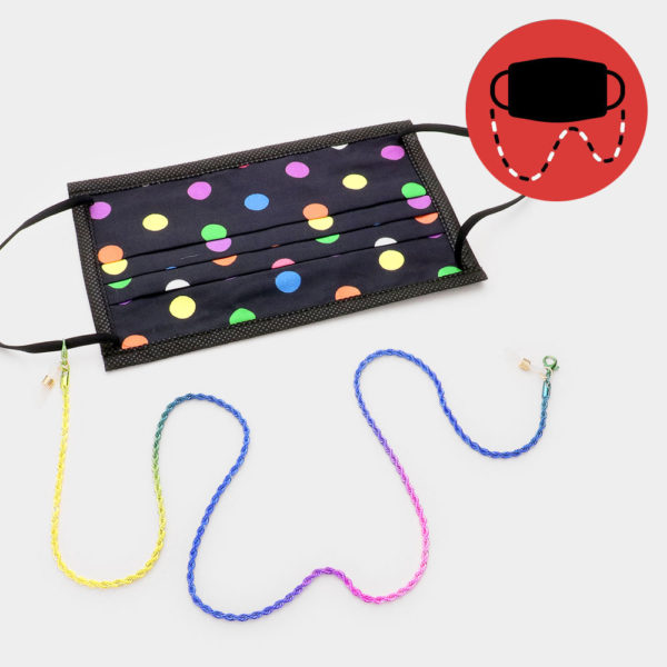 rainbow mask and sunglasses chain
