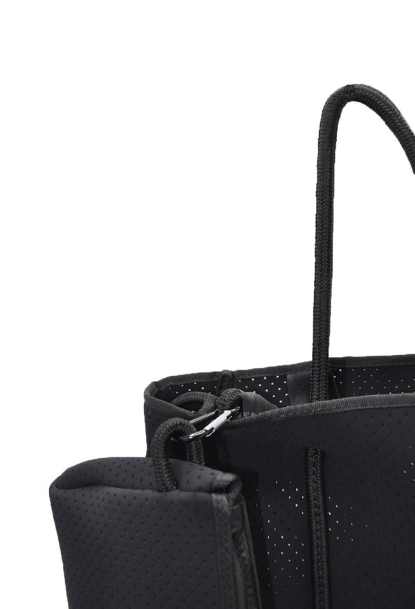 black mini scuba tote