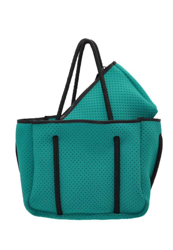 kelly green mini scuba tote