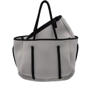 white mini scuba tote