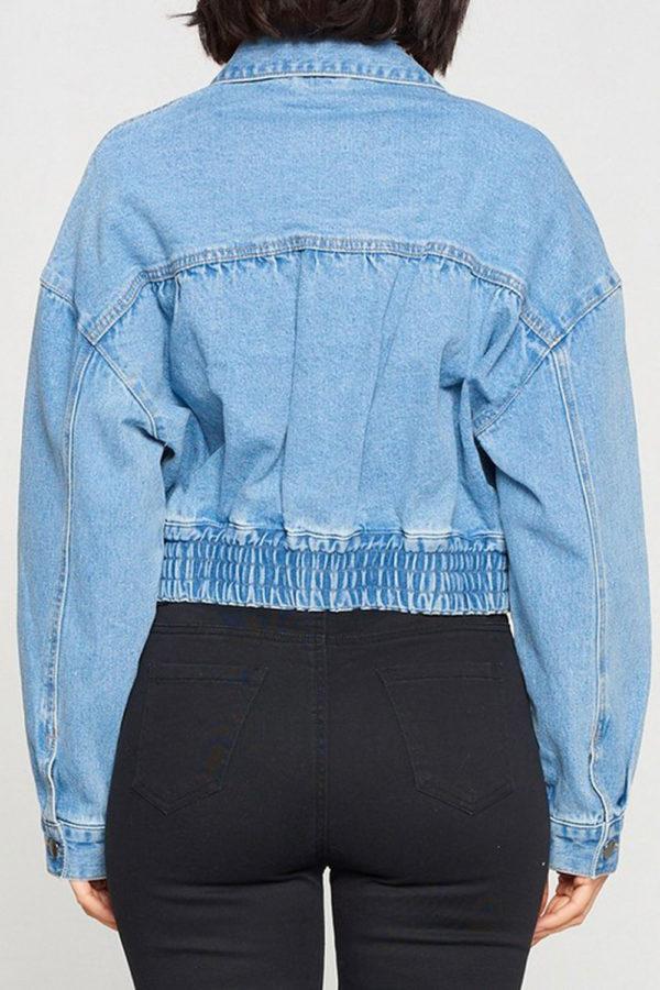 denim jacket- back