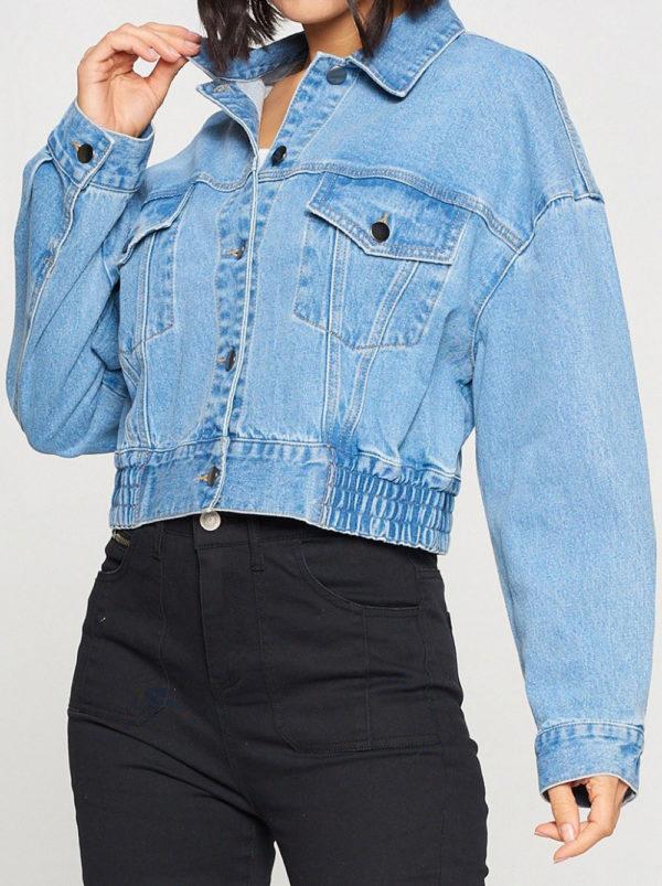 denim jacket- side