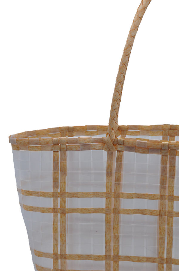two in one woven summer beach bag