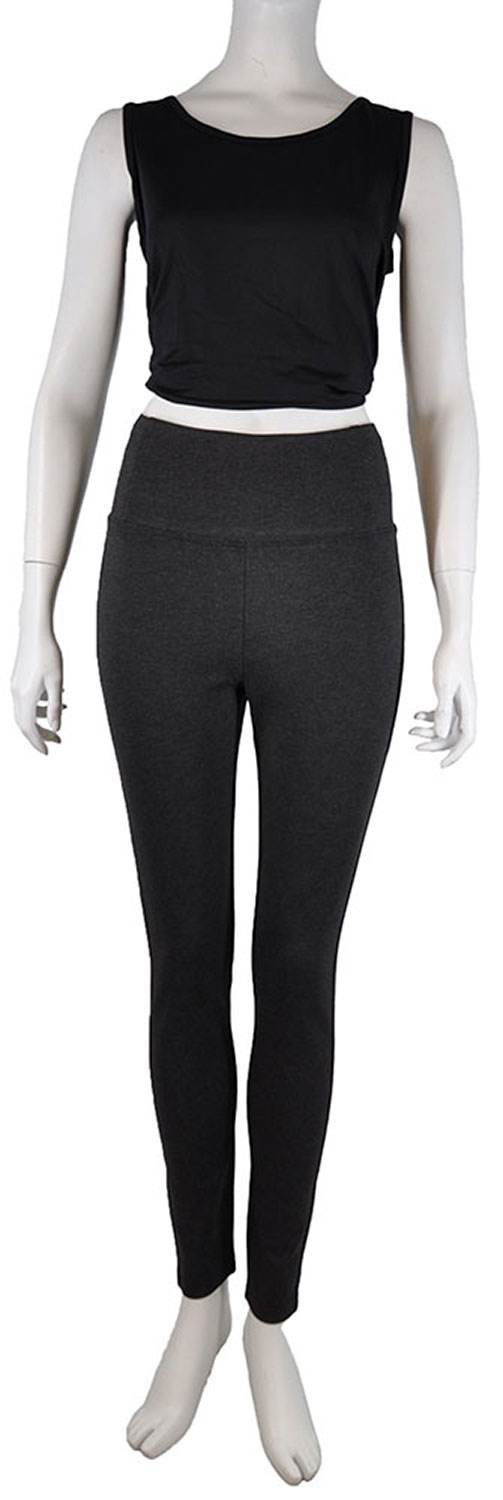 HIGH WAISTED GREY JEGGINGS