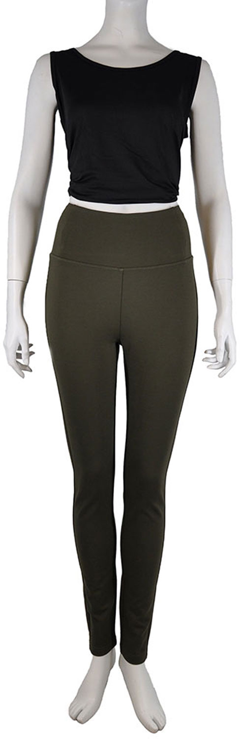 HIGH WAISTED OLIVE JEGGINGS