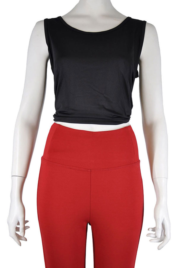 HIGH WAISTED RED JEGGINGS